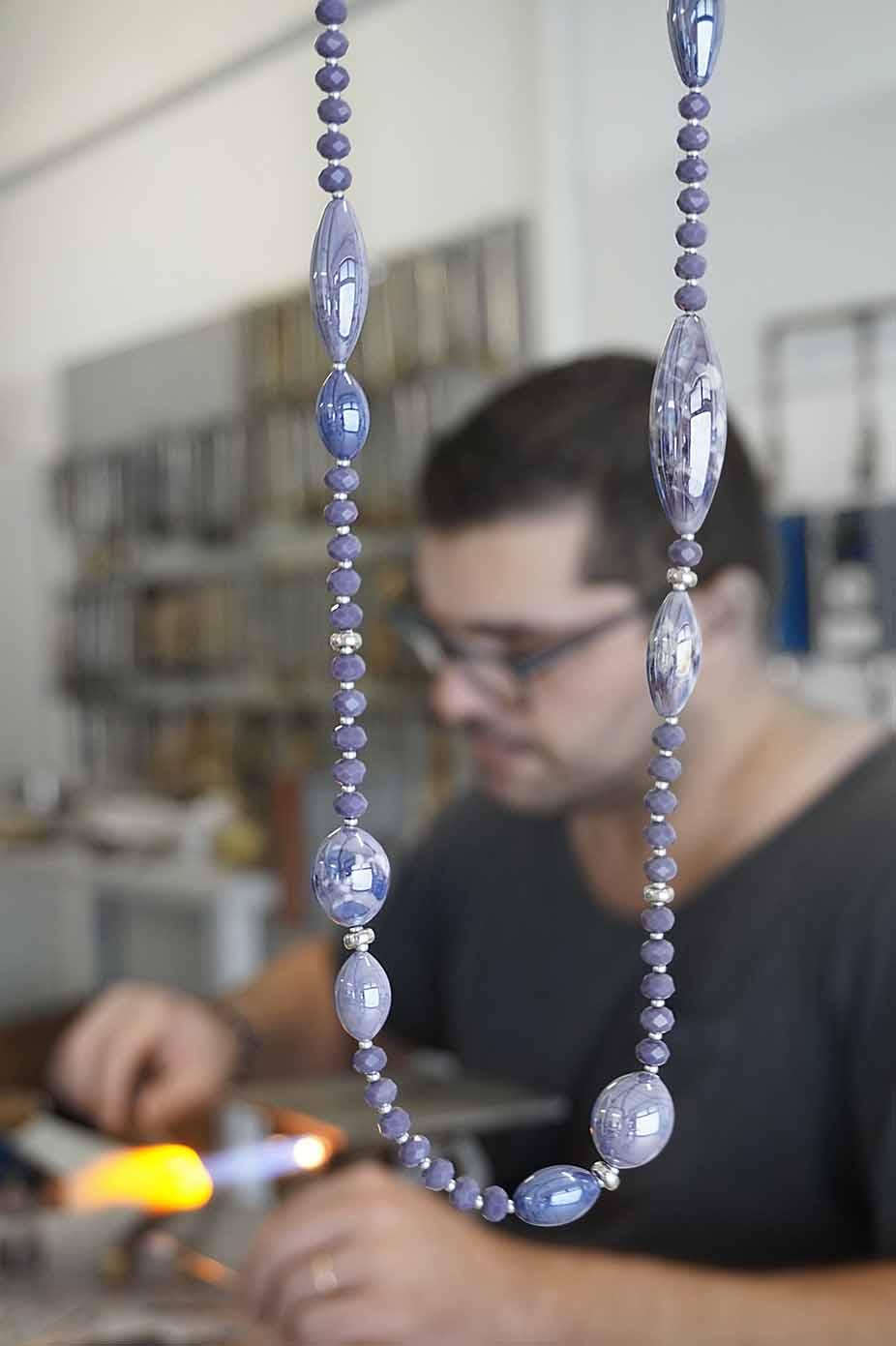 gioielli in vetro di murano